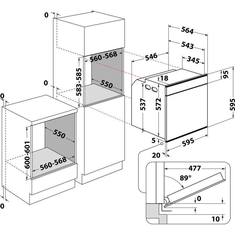 Whirlpool-Four-Encastrable-AKZM-8660-IX-Electrique-A--Technical-drawing