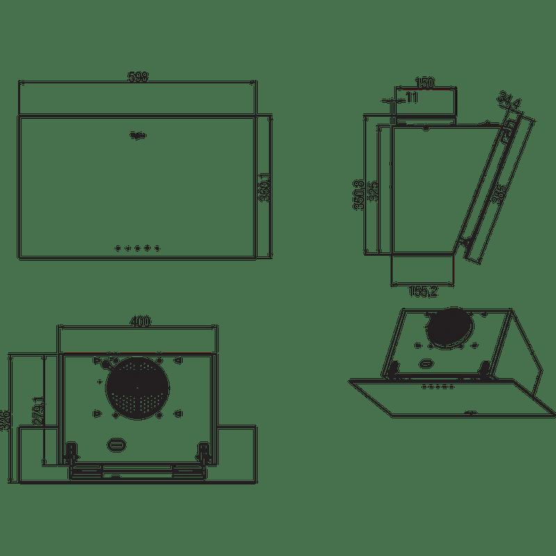 Whirlpool-Hotte-Encastrable-AKR-037-G-BL-Noir-Pose-libre-Mecanique-Technical-drawing