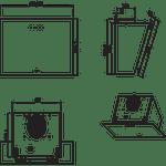 Whirlpool-Hotte-Encastrable-AKR-039-G-BL-Noir-Pose-libre-Electronique-Technical-drawing