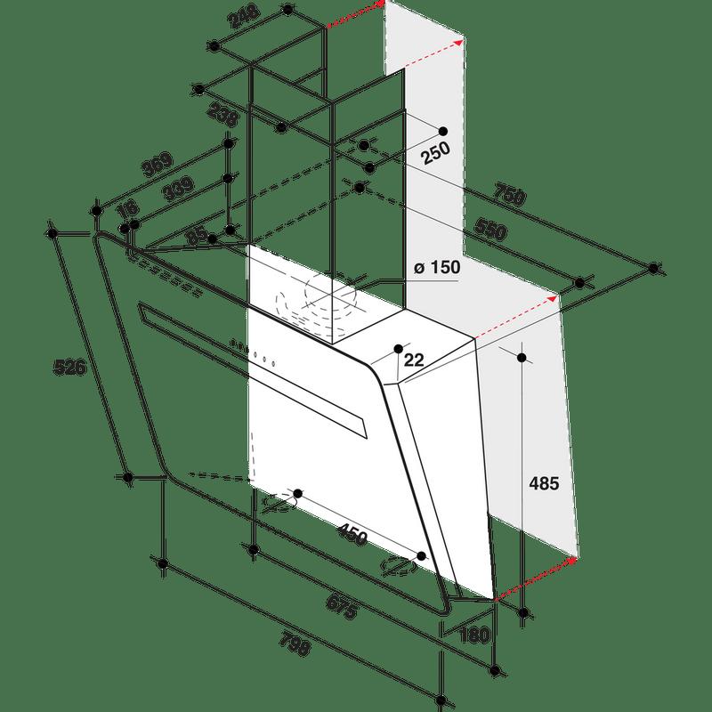 Whirlpool-Hotte-Encastrable-AKR-808-BK-Noir-Mural-Electronique-Technical-drawing