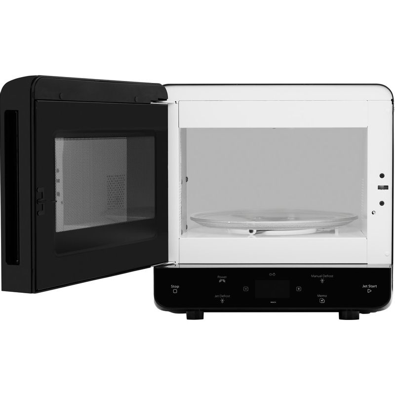 Whirlpool-Four-micro-ondes-Pose-libre-MAX-34-BL-Noir-Electronique-13-Micro-ondes-uniquement-700-Frontal-open