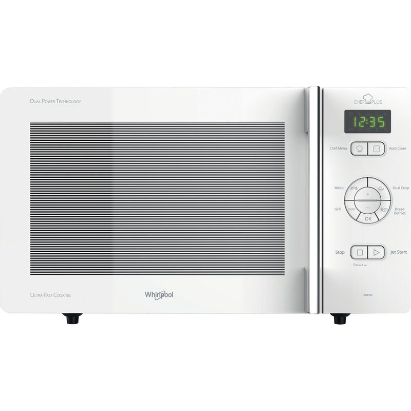Whirlpool-Four-micro-ondes-Pose-libre-MCP-345-WH-Blanc-Electronique-25-Micro-ondes---gril-800-Frontal