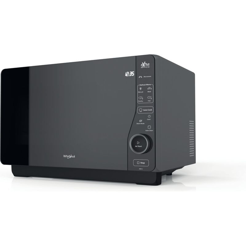Whirlpool-Four-micro-ondes-Pose-libre-MWF-421-BL-Noir-Electronique-25-Micro-ondes---gril-800-Perspective