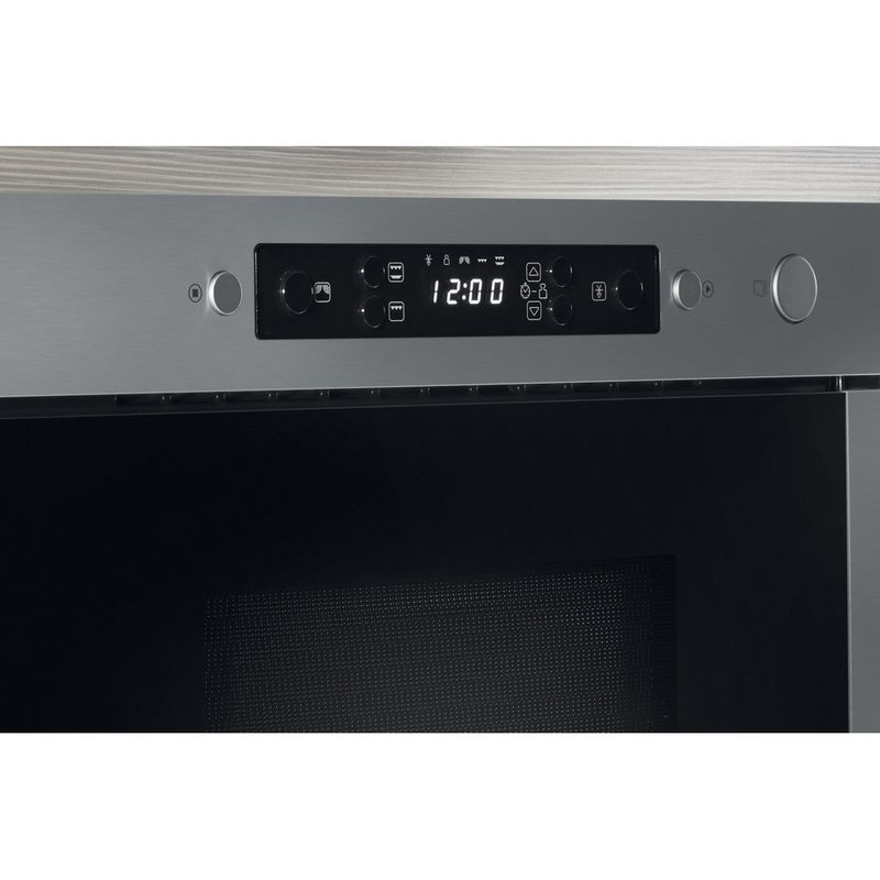 Whirlpool-Four-micro-ondes-Encastrable-AMW-439-IX-Acier-inoxydable-Electronique-22-Micro-ondes---gril-750-Control-panel