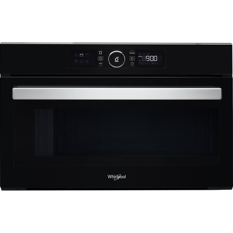 Whirlpool-Four-micro-ondes-Encastrable-AMW-730-NB-Noir-Electronique-31-Micro-ondes---gril-1000-Frontal