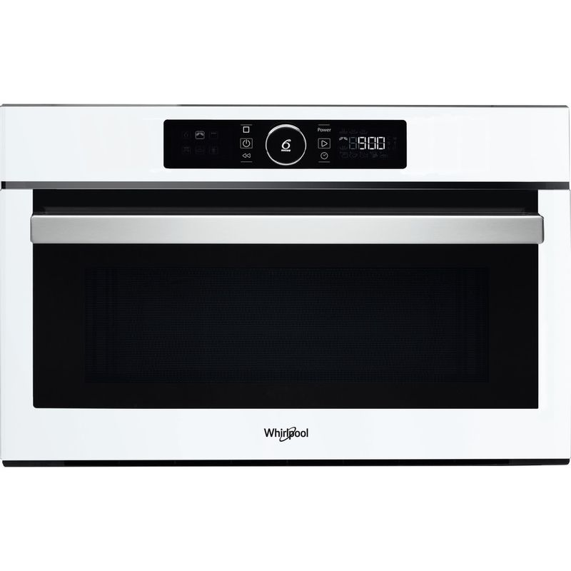 Whirlpool-Four-micro-ondes-Encastrable-AMW-730-WH-Blanc-Electronique-31-Micro-ondes---gril-1000-Frontal