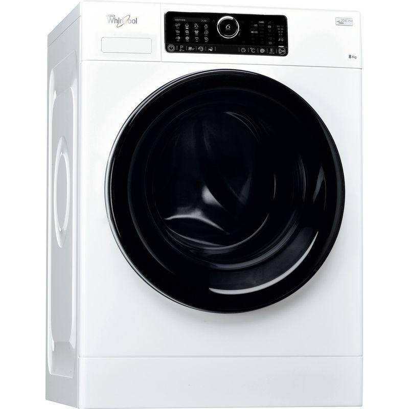 Whirlpool-Lave-linge-Pose-libre-FSCR80430-Blanc-Lave-linge-frontal-A----Perspective