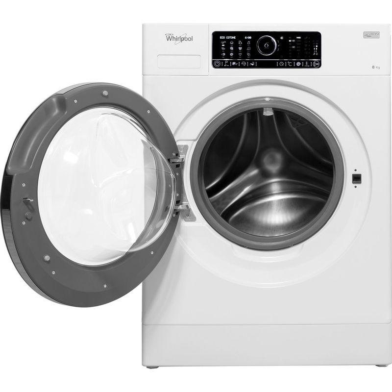 Whirlpool-Lave-linge-Pose-libre-FSCR80430-Blanc-Lave-linge-frontal-A----Frontal-open