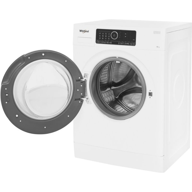 Whirlpool-Lave-linge-Pose-libre-FSCR80430-Blanc-Lave-linge-frontal-A----Perspective-open