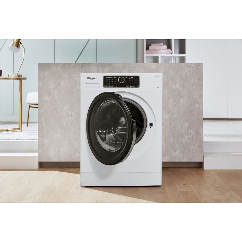 Whirlpool-Lave-linge-Pose-libre-FSCR80430-Blanc-Lave-linge-frontal-A----Lifestyle-frontal-open