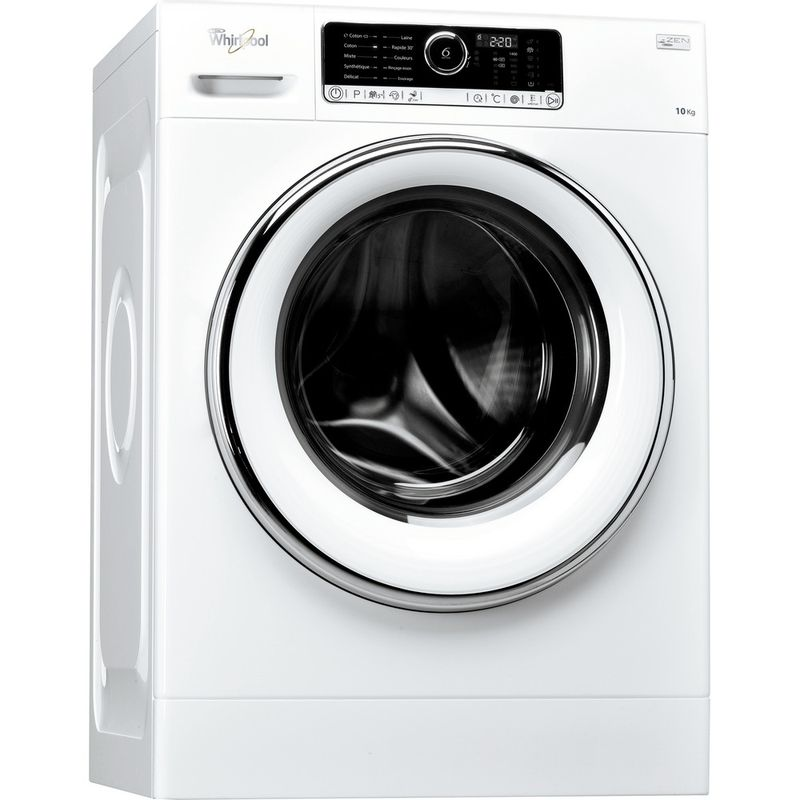 Whirlpool-Lave-linge-Pose-libre-FSCR10427-Blanc-Lave-linge-frontal-A----Perspective