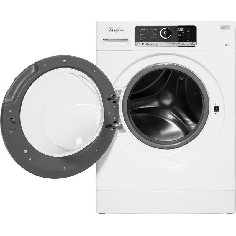Whirlpool-Lave-linge-Pose-libre-FSCR10427-Blanc-Lave-linge-frontal-A----Frontal-open