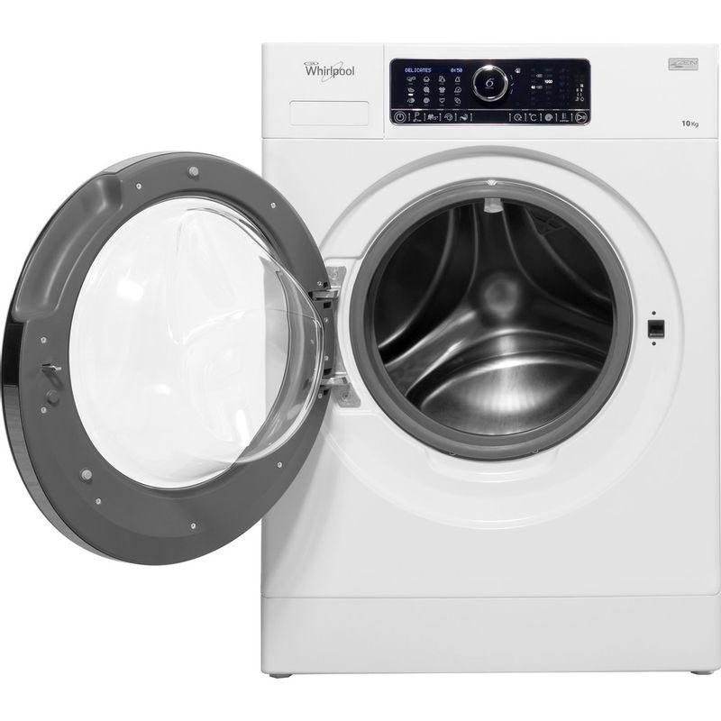 Whirlpool-Lave-linge-Pose-libre-FSCR-10432-Blanc-Lave-linge-frontal-A----Frontal-open