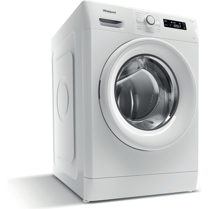 Whirlpool-Lave-linge-Pose-libre-FWF81483WS-FR-Blanc-Lave-linge-frontal-A----Perspective
