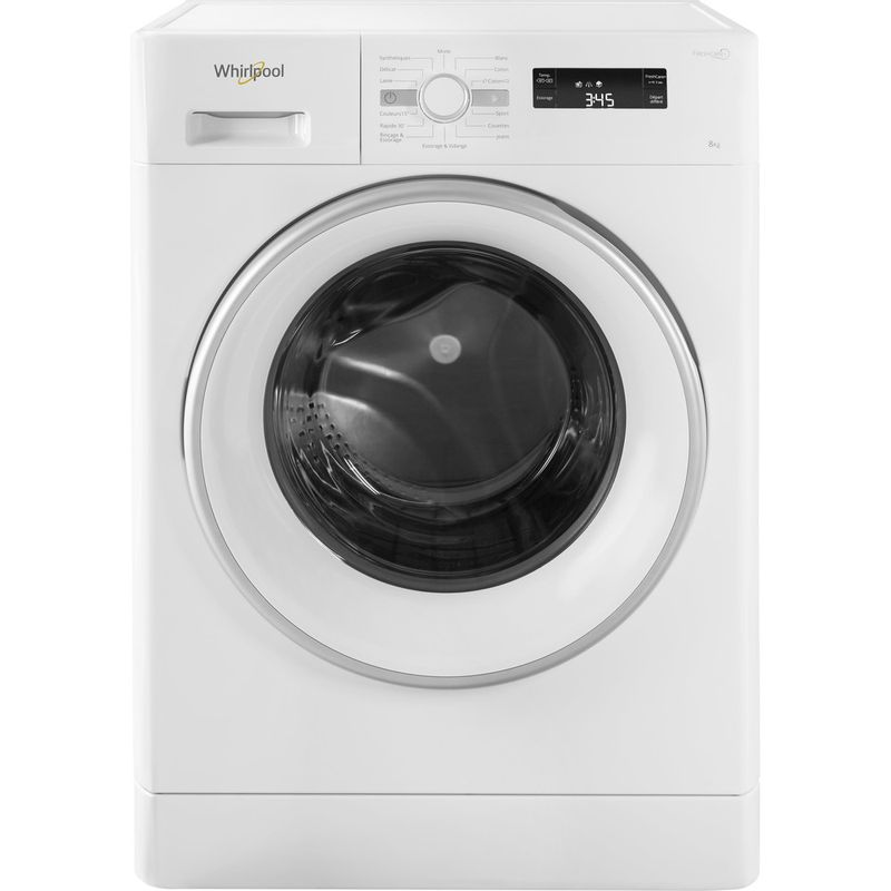 Whirlpool-Lave-linge-Pose-libre-FWF81483WS-FR-Blanc-Lave-linge-frontal-A----Frontal