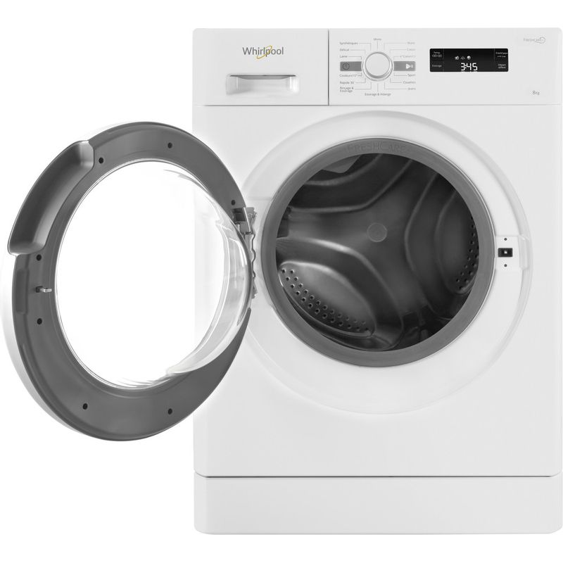 Whirlpool-Lave-linge-Pose-libre-FWF81483WS-FR-Blanc-Lave-linge-frontal-A----Frontal-open