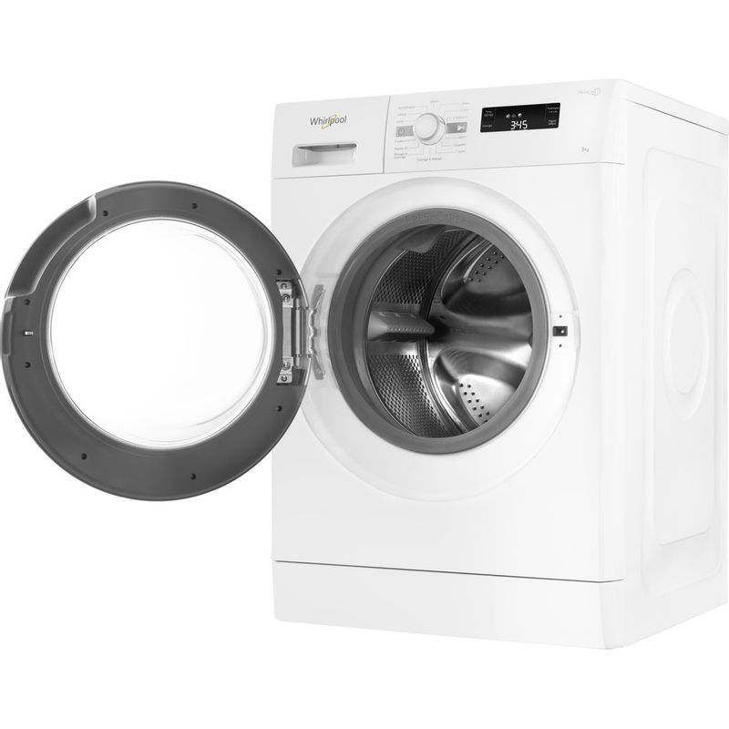 Whirlpool-Lave-linge-Pose-libre-FWF81483WS-FR-Blanc-Lave-linge-frontal-A----Perspective-open
