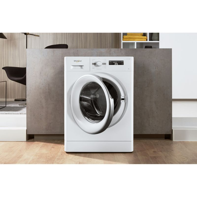 Whirlpool-Lave-linge-Pose-libre-FWF81483WS-FR-Blanc-Lave-linge-frontal-A----Lifestyle-frontal-open