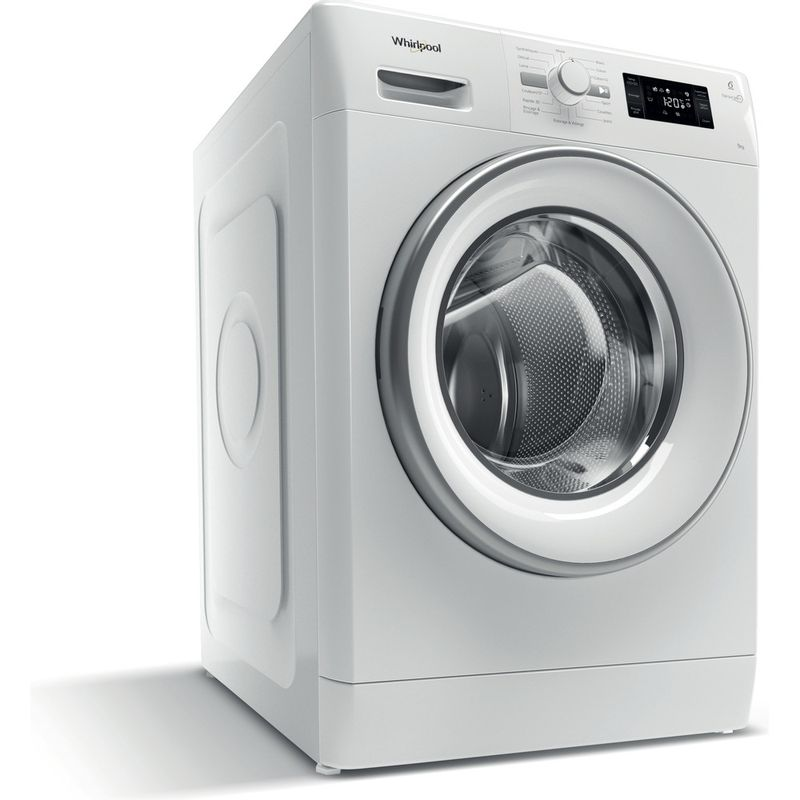 Whirlpool-Lave-linge-Pose-libre-FWG91484WS-FR-Blanc-Lave-linge-frontal-A----Perspective