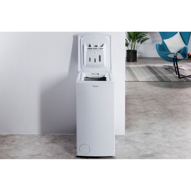 Whirlpool-Lave-linge-Pose-libre-TDLR-70220-Blanc-Lave-linge-top-A----Lifestyle-frontal-open