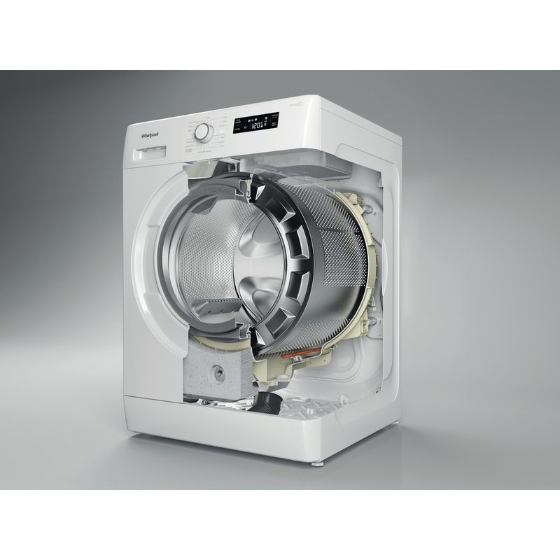 Whirlpool-Lave-linge-Pose-libre-FWFB81483W-FR-Blanc-Lave-linge-frontal-A----Perspective-open