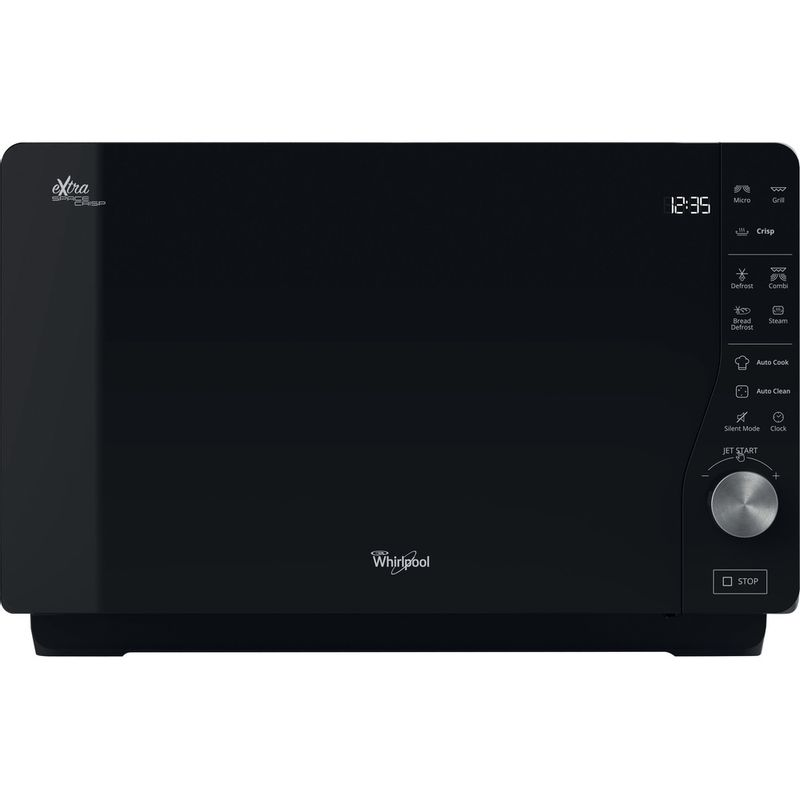 Whirlpool-Four-micro-ondes-Pose-libre-MWF-427-BL-Noir-Electronique-25-Micro-ondes---gril-800-Frontal
