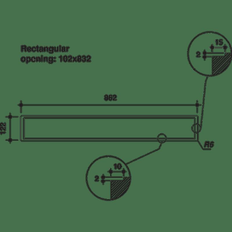Whirlpool-Hotte-Encastrable-WDO-93F-B-K-Noir-Table-top-Electronique-Technical-drawing