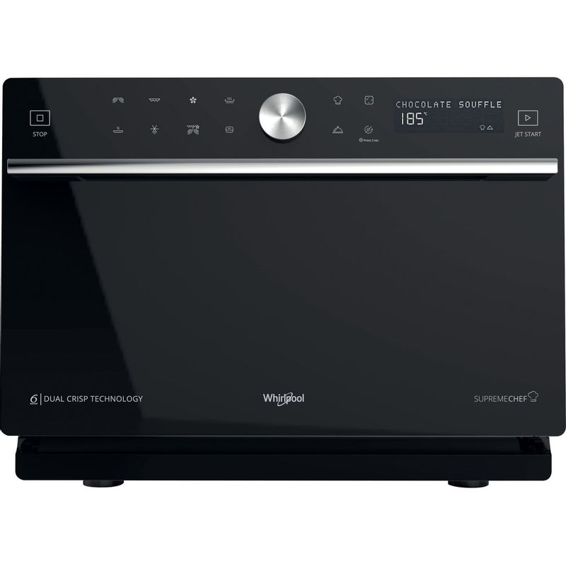 Whirlpool-Four-micro-ondes-Pose-libre-MWP-3391-SB-Argent-Electronique-33-Micro-ondes-Combine-1000-Frontal