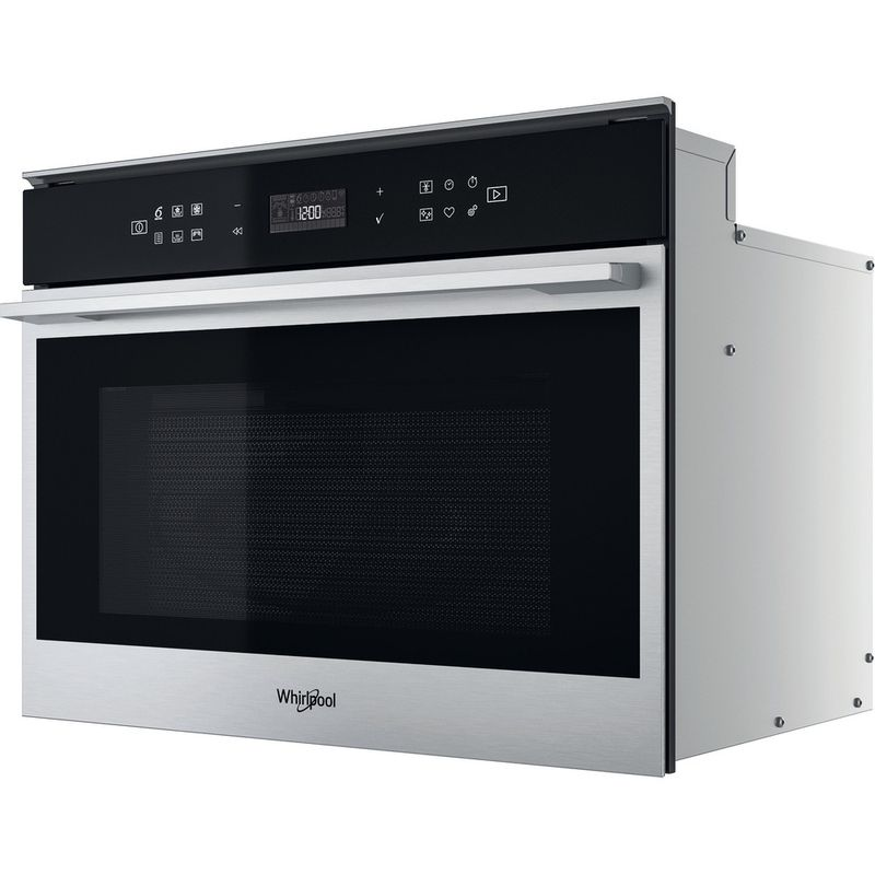 Whirlpool-Four-micro-ondes-Encastrable-W7-MW461-Acier-inoxydable-Electronique-40-Micro-ondes-Combine-900-Perspective