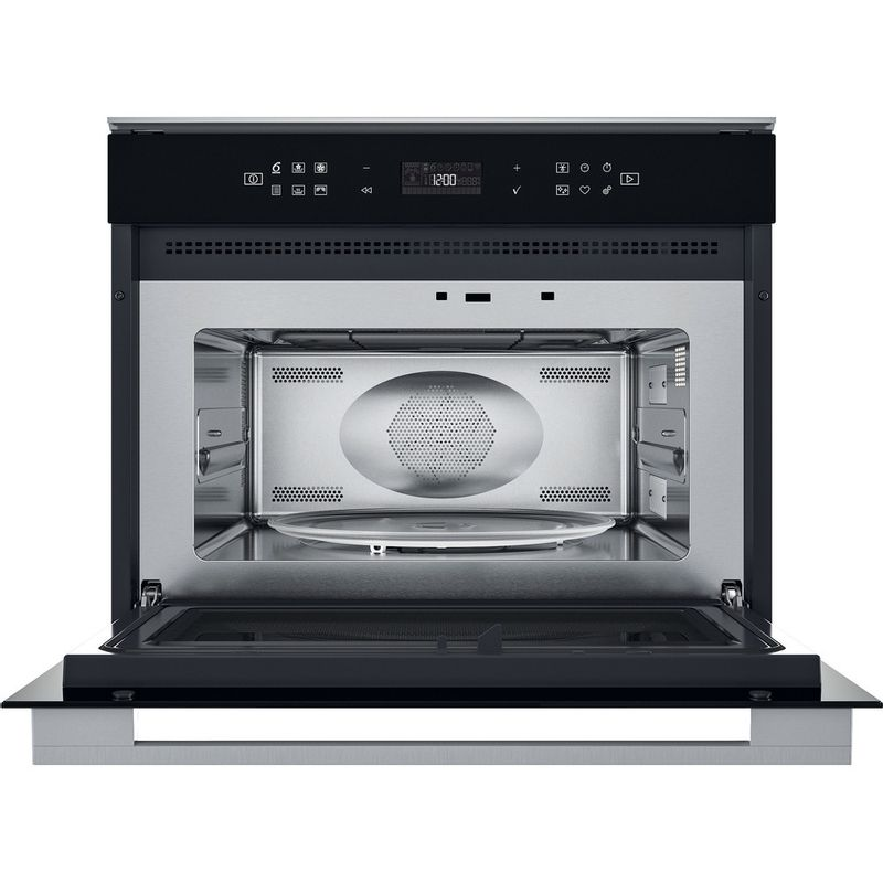 Whirlpool-Four-micro-ondes-Encastrable-W7-MW461-Acier-inoxydable-Electronique-40-Micro-ondes-Combine-900-Frontal-open