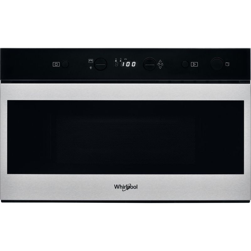 Whirlpool-Four-micro-ondes-Encastrable-W7-MN810-Acier-inoxydable-Electronique-22-Micro-ondes-uniquement-750-Frontal