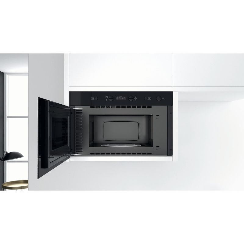 Whirlpool-Four-micro-ondes-Encastrable-W7-MN810-Acier-inoxydable-Electronique-22-Micro-ondes-uniquement-750-Lifestyle-frontal-open