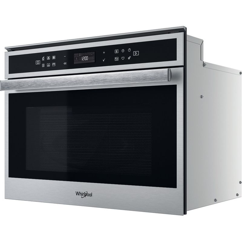 Whirlpool-Four-micro-ondes-Encastrable-W6-MW461-Acier-inoxydable-Electronique-40-Micro-ondes-Combine-900-Perspective