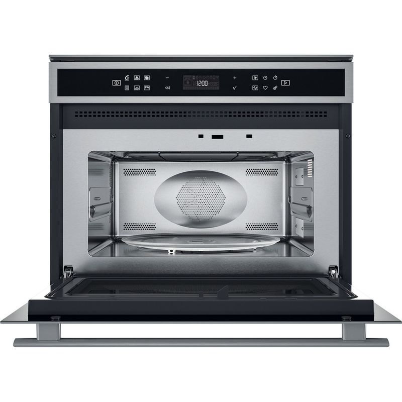 Whirlpool-Four-micro-ondes-Encastrable-W6-MW461-Acier-inoxydable-Electronique-40-Micro-ondes-Combine-900-Frontal-open