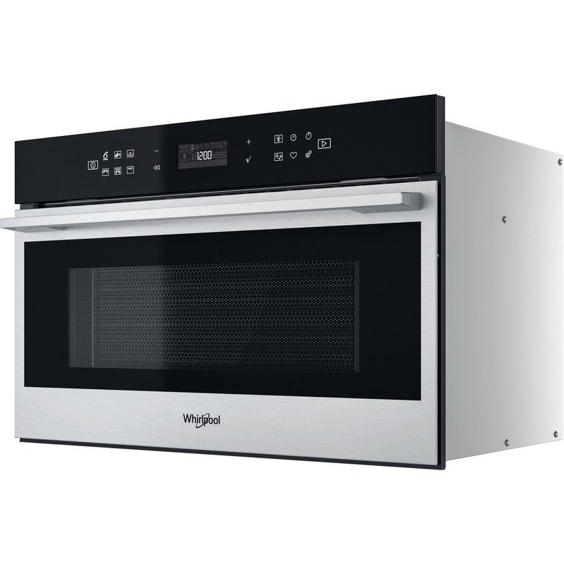 Whirlpool-Four-micro-ondes-Encastrable-W7-MD440-Acier-inoxydable-Electronique-31-Micro-ondes---gril-1000-Perspective
