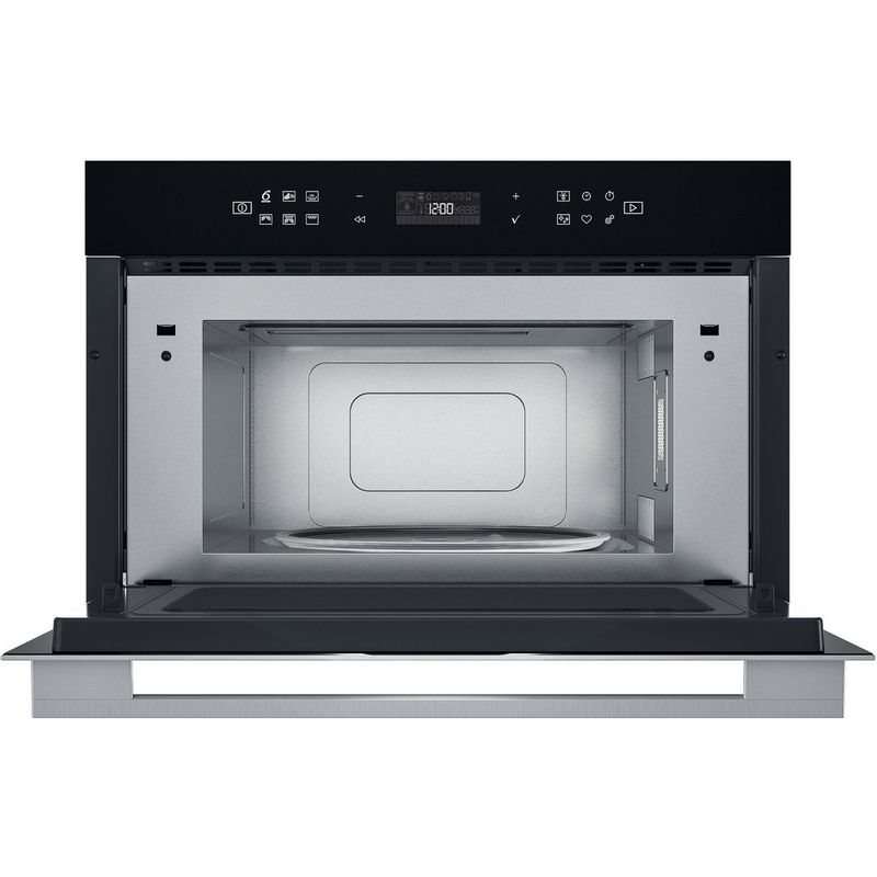 Whirlpool-Four-micro-ondes-Encastrable-W7-MD440-Acier-inoxydable-Electronique-31-Micro-ondes---gril-1000-Frontal-open