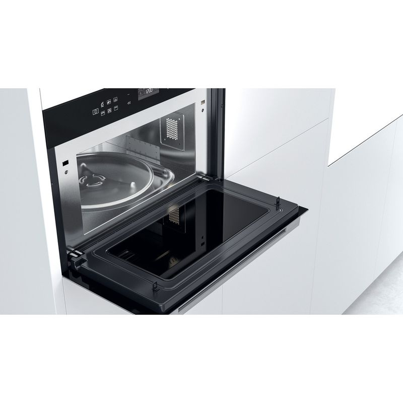 Whirlpool-Four-micro-ondes-Encastrable-W7-MD440-Acier-inoxydable-Electronique-31-Micro-ondes---gril-1000-Lifestyle-perspective-open