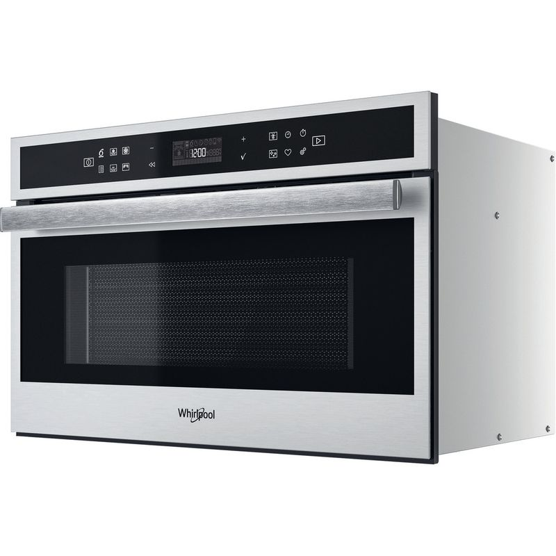Whirlpool-Four-micro-ondes-Encastrable-W6-MD460-Acier-inoxydable-Electronique-31-Micro-ondes-Combine-1000-Perspective