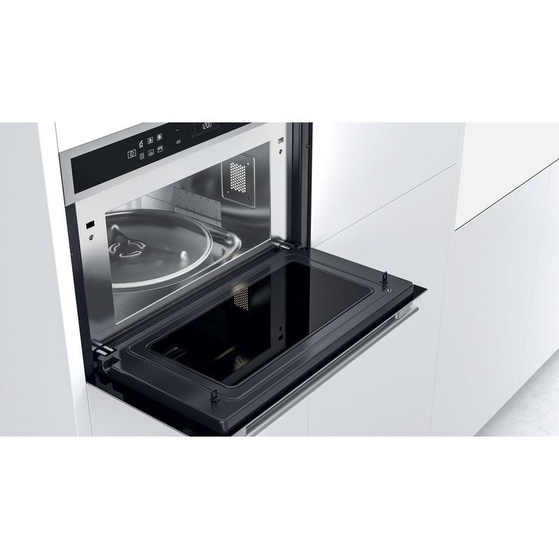 Whirlpool-Four-micro-ondes-Encastrable-W6-MD460-Acier-inoxydable-Electronique-31-Micro-ondes-Combine-1000-Lifestyle-perspective-open