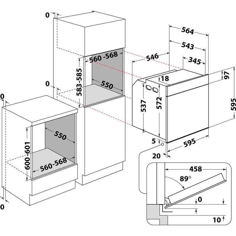 Whirlpool-Four-Encastrable-OAKZ9-156-P-IX-Electrique-A-Technical-drawing