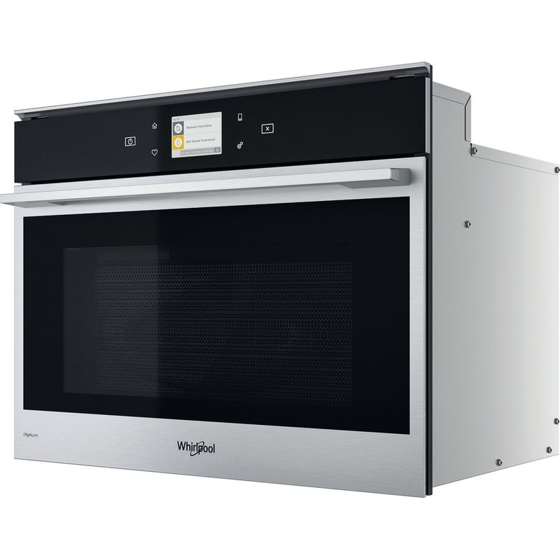 Whirlpool-Four-micro-ondes-Encastrable-W9-MW261-IXL-Acier-inoxydable-Electronique-40-Micro-ondes-Combine-900-Perspective