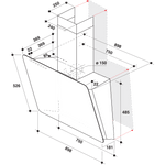 Whirlpool-Hotte-Encastrable-WVS-93F-LT-K-Noir-Mural-Electronique-Technical-drawing