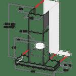 Whirlpool-Hotte-Encastrable-WHSS-92F-LT-K-Noir-Mural-Electronique-Technical-drawing