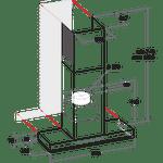 Whirlpool-Hotte-Encastrable-WHSS-90F-L-T-C-K-Noir-Mural-Electronique-Technical-drawing