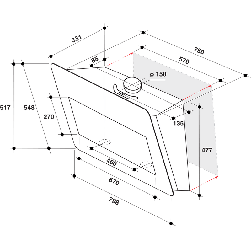 Whirlpool-Hotte-Encastrable-AKR-855-1-G-BL-Blanc-Mural-Electronique-Technical-drawing