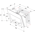 Whirlpool-Hotte-Encastrable-AKR-855-1-G-WH-Blanc-Mural-Electronique-Technical-drawing