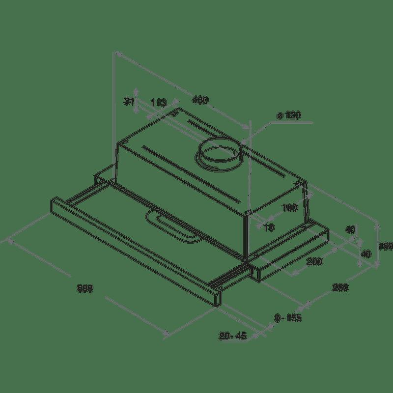 Whirlpool-Hotte-Encastrable-AKR-749-1-IX-Gris-Encastrable-Mecanique-Technical-drawing