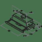 Whirlpool-Hotte-Encastrable-AKR-749-1-NB-Noir-Encastrable-Mecanique-Technical-drawing