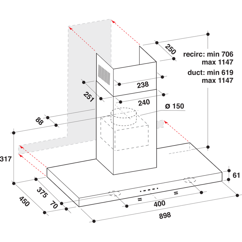 Whirlpool-Hotte-Encastrable-AKR-759-1-IX-Inox-Mural-Electronique-Technical-drawing