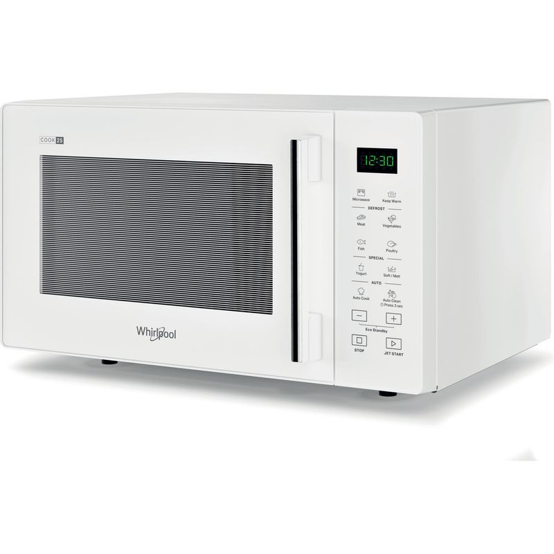 Whirlpool-Four-micro-ondes-Pose-libre-MWP-251-W-Blanc-Electronique-25-Micro-ondes-uniquement-900-Perspective